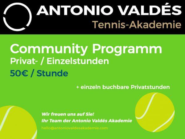 Community Programm Einzelstunde