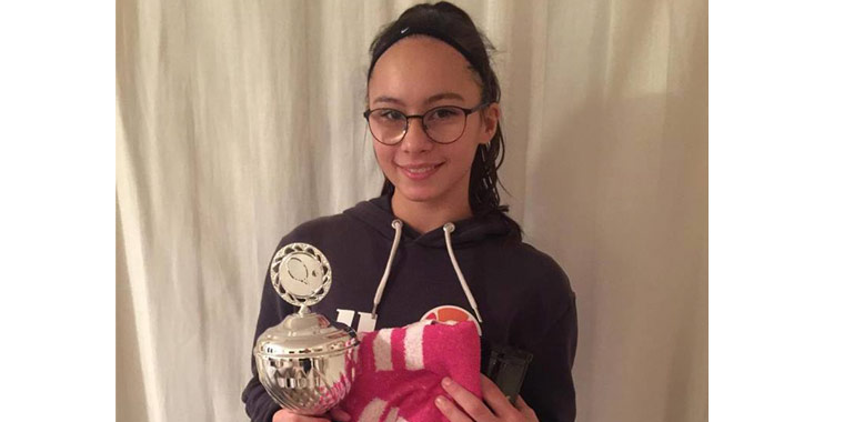 ANTONIO VALDÉS Tennisakademie Congratulations Amira Schultz U14 Champion w