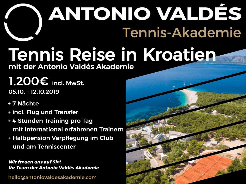 Tennis Reise Kroatien