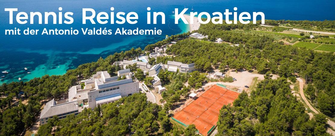 Tennis Reise in Kroatien mit der Antonio Valdés Akademie